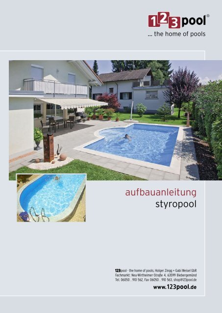 Aufbauanleitung f r styropool 123 pool for Folie fur pool