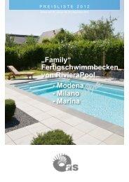 """Family"" Fertigschwimmbecken von RivieraPool . Modena . Milano ..."