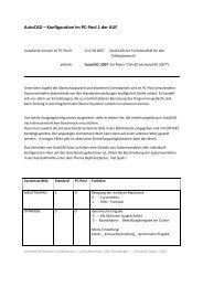 AutoCAD – Konfiguration im PC-Pool 1 der AUF - Universität Rostock