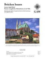Evangelisches Leben in Polen - Gustav-Adolf-Werk der ...