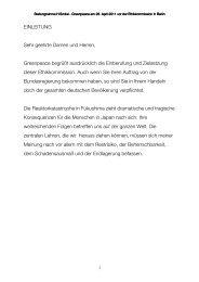 Rede Heinz Smital vor der Ethikkommission - Greenpeace