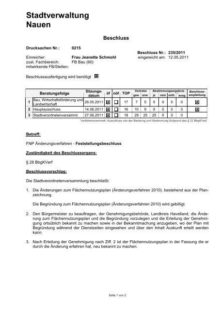 Stadtverwaltung Nauen - Stadt Nauen