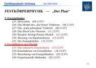 """FESTKÖRPERPHYSIK — """"Der Plan"""""""