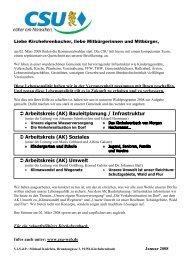 Das Wahlprogramm als PDF downloaden - CSU Kirchehrenbach