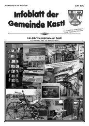 Infoblatt 2012 - Kastl