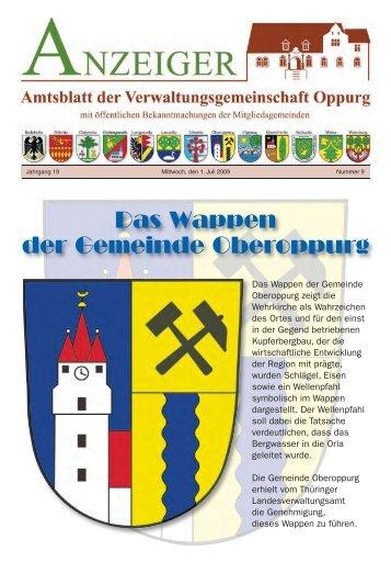 Das Wappen der Gemeinde Oberoppurg - VG Oppurg
