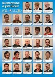 Die Liste mit der Vorstellung der Kandidaten als - CSU ...