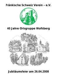 Fränkische Schweiz Verein – e.V. 40 Jahre ... - Untertrubach.de