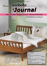 Das Insider-Magazin zum Thema Schlafen - Sembella GmbH