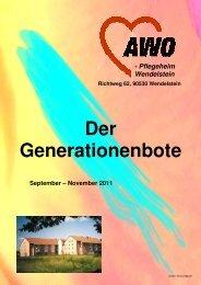 Der Generationenbote - AWO Kreisverband Roth-Schwabach