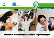 Master in Kardiorespiratorischer Physiotherapie - Medizinische ...