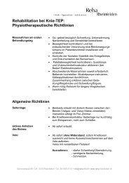 Rehabilitation bei Knie-TEP: Physiotherapeutische Richtlinien