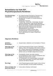 Rehabilitation bei Hüft-TEP: Physiotherapeutische Richtlinien