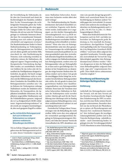 Notfall+ Rettungsmedizin - Dr. iur. Erik Hahn