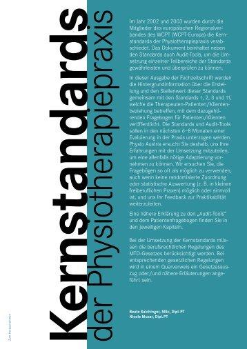 Kernstandards - Physio Austria