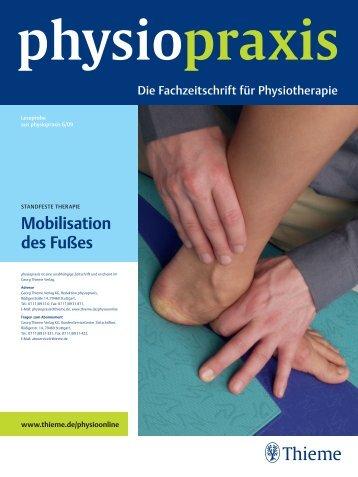 Mobilisation des Fußes - Physiotherapie Beyerlein