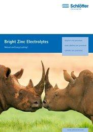 Bright Zinc Electrolytes - schloetter.de
