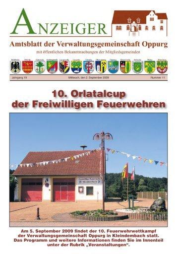 10. Orlatalcup der Freiwilligen Feuerwehren - VG Oppurg