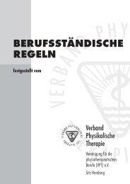 BERUFSSTÄNDISCHE REGELN - Praxis Karin – Physiotherapie ...