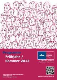 Programm Frühjahr / Sommer 2013 - Volkshochschulkreis ...