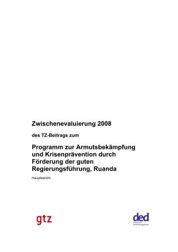 Zwischenevaluierung 2008 Programm zur Armutsbekämpfung und ...