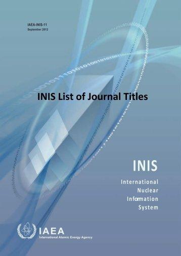 contents - IAEA