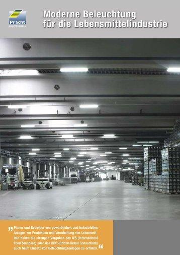 Moderne Beleuchtung für die Lebensmittelindustrie