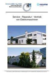 Service - Reparatur - Vertrieb von Elektromaschinen