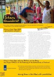 Zie de Nieuwsbrief van Stars in their Eyes
