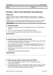 Versuch : Salz in der Petersilie und anderswo - Agnes-Pockels-Labor
