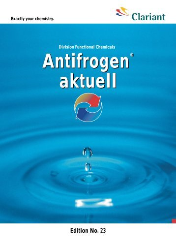Antifrogen® Antifrogen® aktuell - Antifrogen - Clariant
