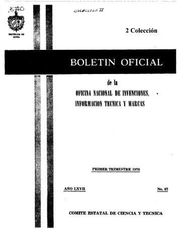 marcas - Oficina Cubana de la Propiedad Industrial