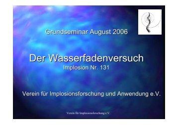 Der Wasserfadenversuch - Implosion-ev.de