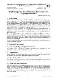 Empfehlungen zur Desinfektion bzw. Sterilisation von ... - LPS-Berlin