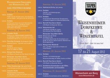 Programm - Weisenheim am Berg