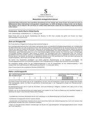 Wesentliche Anlegerinformationen - Security KAG