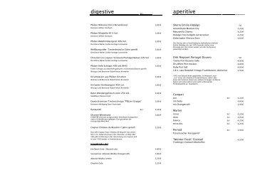 digestive aperitive - Deutsches Weintor