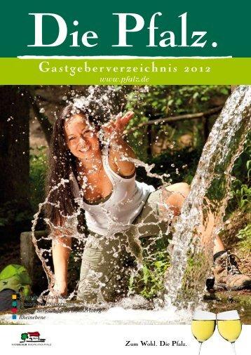 Gastgeberverzeichnis 2012 - Pfalz