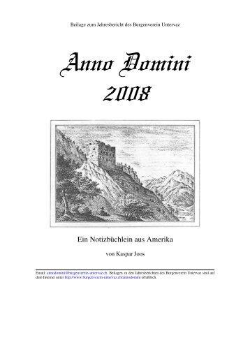2008-05 Ein Notizbüchlein aus Amerika.pdf - Burgenverein Untervaz