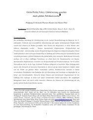 Globalisierung gestalten durch globale - Global Public Policy institute