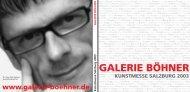 Katalog Salzburg - Galerie Böhner