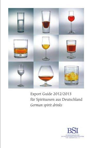 Export Guide 2012/2013 für Spirituosen aus Deutschland German ...
