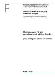 Bedingungen für die Annahme radioaktiver Stoffe