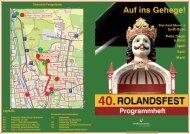 Programmheft Rolandsfest 2008 (Druckversion) - Stadt Nordhausen