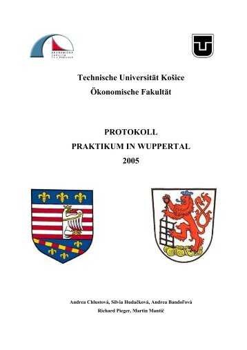 Technische Universität Košice Ökonomische Fakultät ... - TUKE