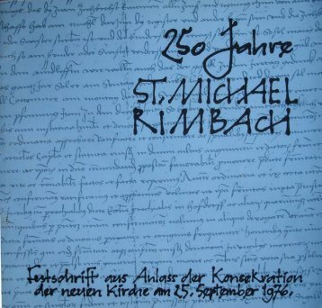 Kirchenfestschrift - Pfarrei Rimbach