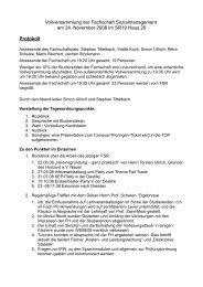 Vollversammlung der Fachschaft Sozialmanagement am 24 ...