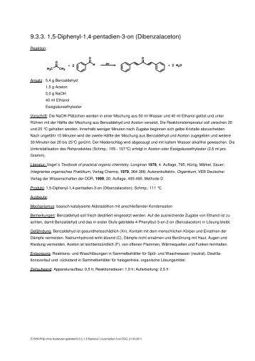 9.3.3_1,5-Diphenyl-1,4-pentadien-3 - Chemie