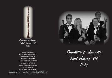 """Quartetto di clarinetti """"Paul Harvey'99"""" Italy"""