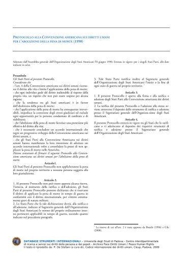 Codice internazionale dei diritti umani (A cura di Paolo De Stefani)